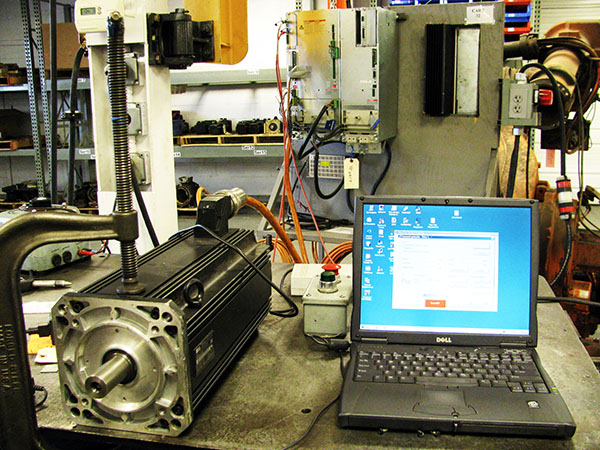 Indramat servo motor repair and testing